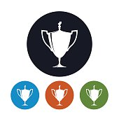 Icon cup of winner,icon gold trophy cup