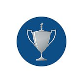 Icon cup of winner,icon silver trophy cup