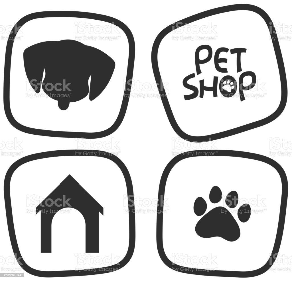 Icon-Designs für Haustiere – Vektorgrafik