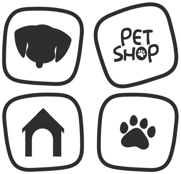 ペット用トランジスタのアイコン - ペットショップ点のイラスト素材/クリップアート素材/マンガ素材/アイコン素材
