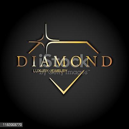 istock Icon diamond. Vector logo. 1152003770
