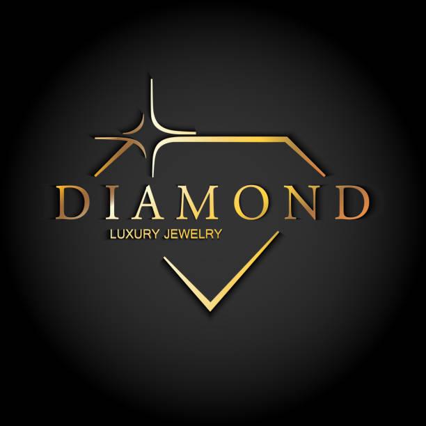 icon diamond. vector logo. - jewelry stock illustrations