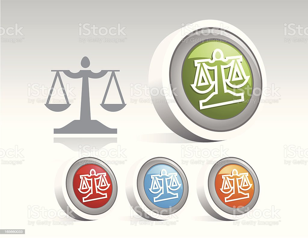 Icon Disc - Law royalty-free stock vector art