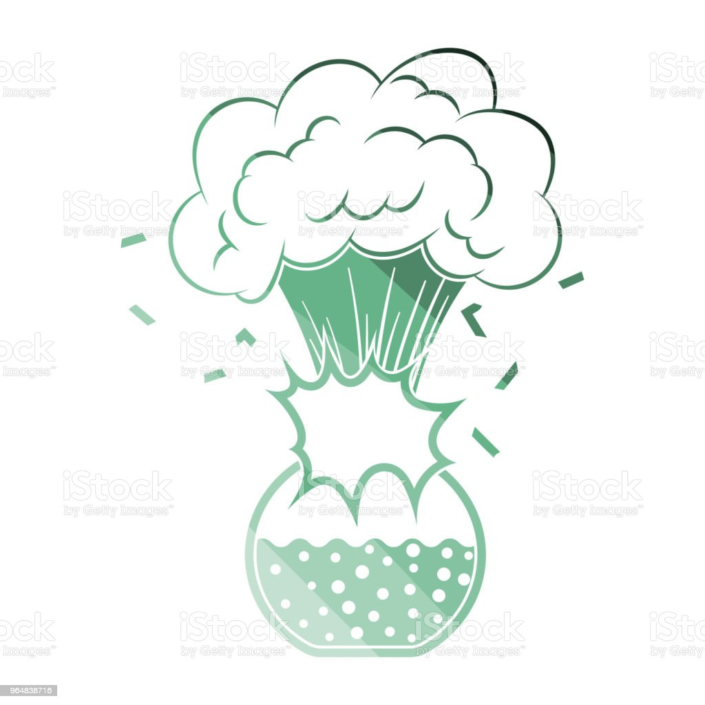 Icon explosion of chemistry flask royalty-free icon explosion of chemistry flask stock vector art & more images of biology