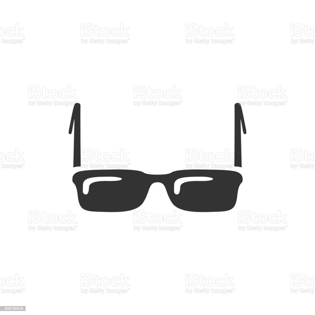 BW icon - Eyeglasses vector art illustration