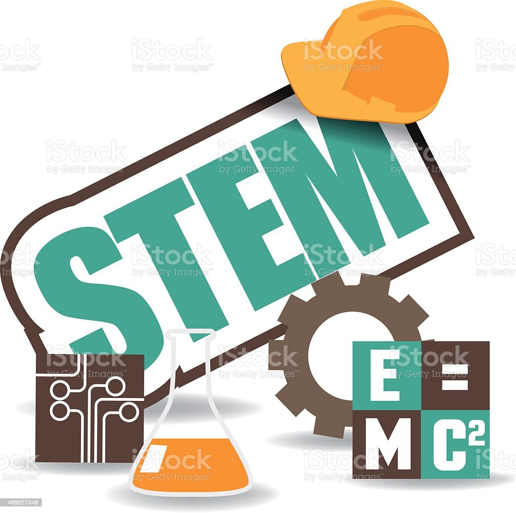 STEM icon flat design EPS 10 vector vector art illustration