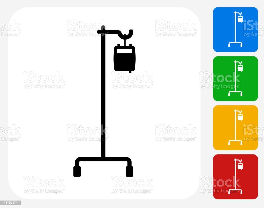 IV Icon Flat Graphic Design vector art illustration