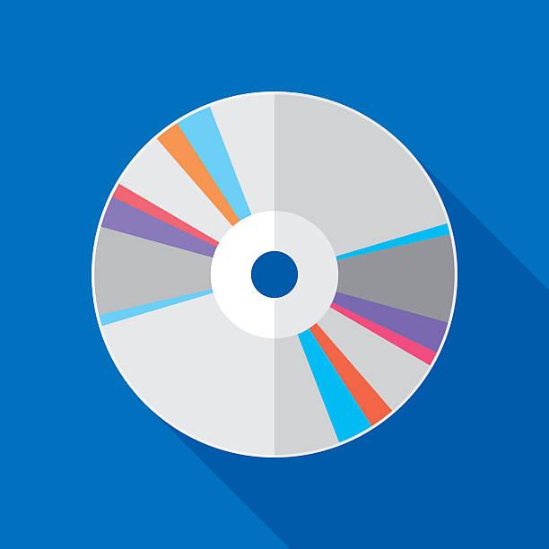 ilustrações, clipart, desenhos animados e ícones de cd icon flat - cd