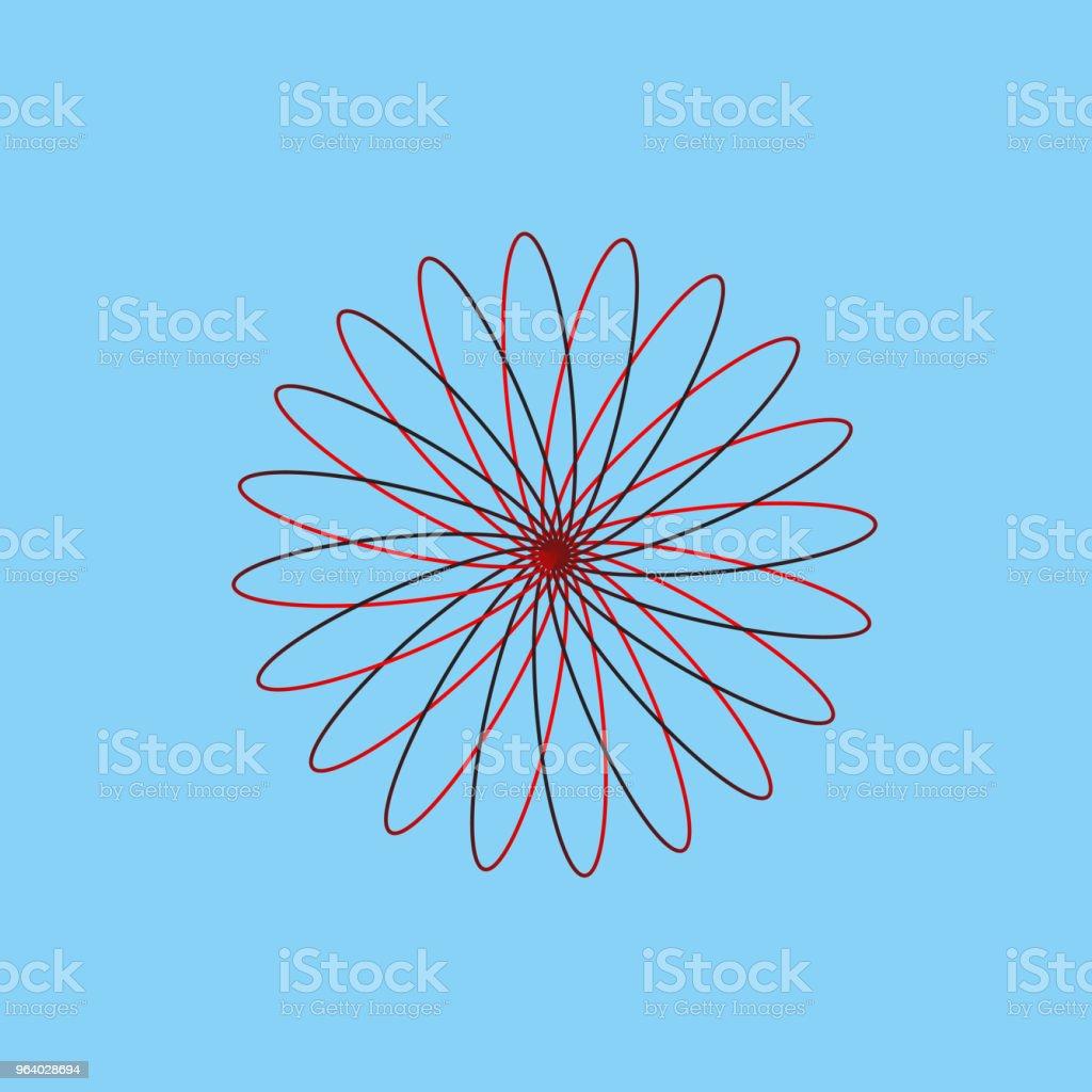アイコン花デザイン - お祝いのロイヤリティフリーベクトルアート