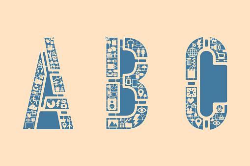 Icon fonts - ABC