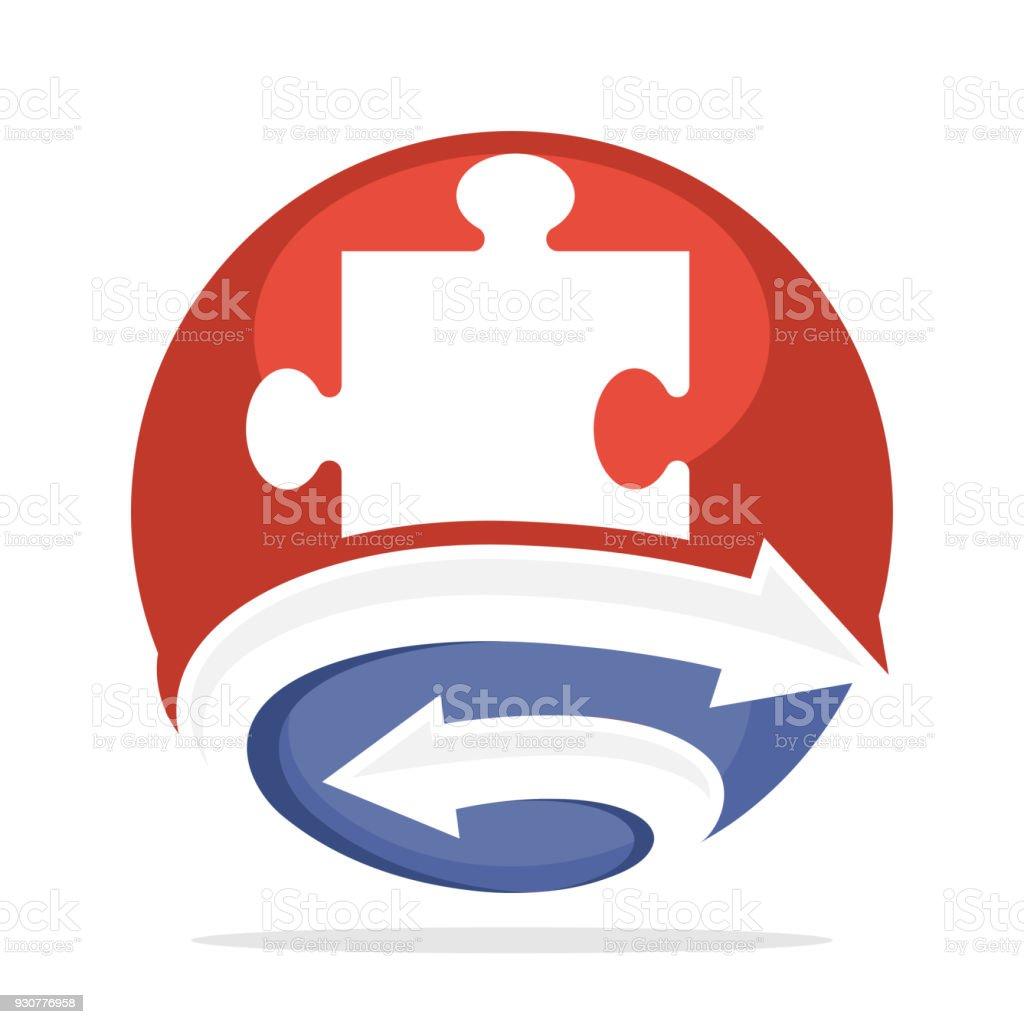 Symbol Für Unternehmensberatung Mit Einer Kombination Der Initialen ...