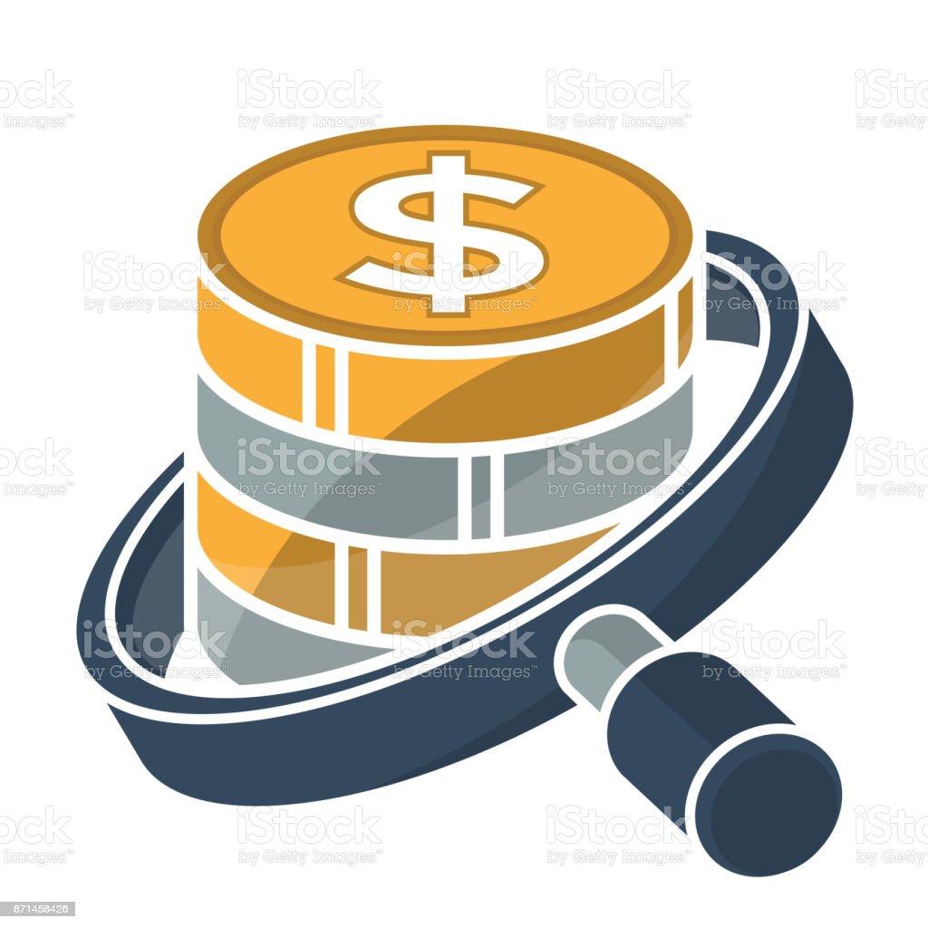 icono de Finanzas empresariales, servicios de auditoría - ilustración de arte vectorial