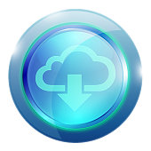 Icon for Cloud download. Each element in a separate layers. Very easy to edit vector EPS10 file. It has transparency layers with blend effects.