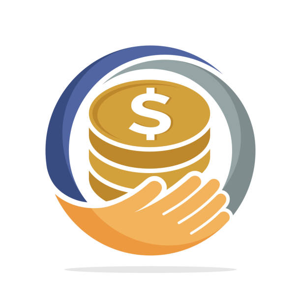 icon  for fundraising, business loan money, save money, and other financial management icon  for fundraising, business loan money, save money, and other financial management contributor stock illustrations
