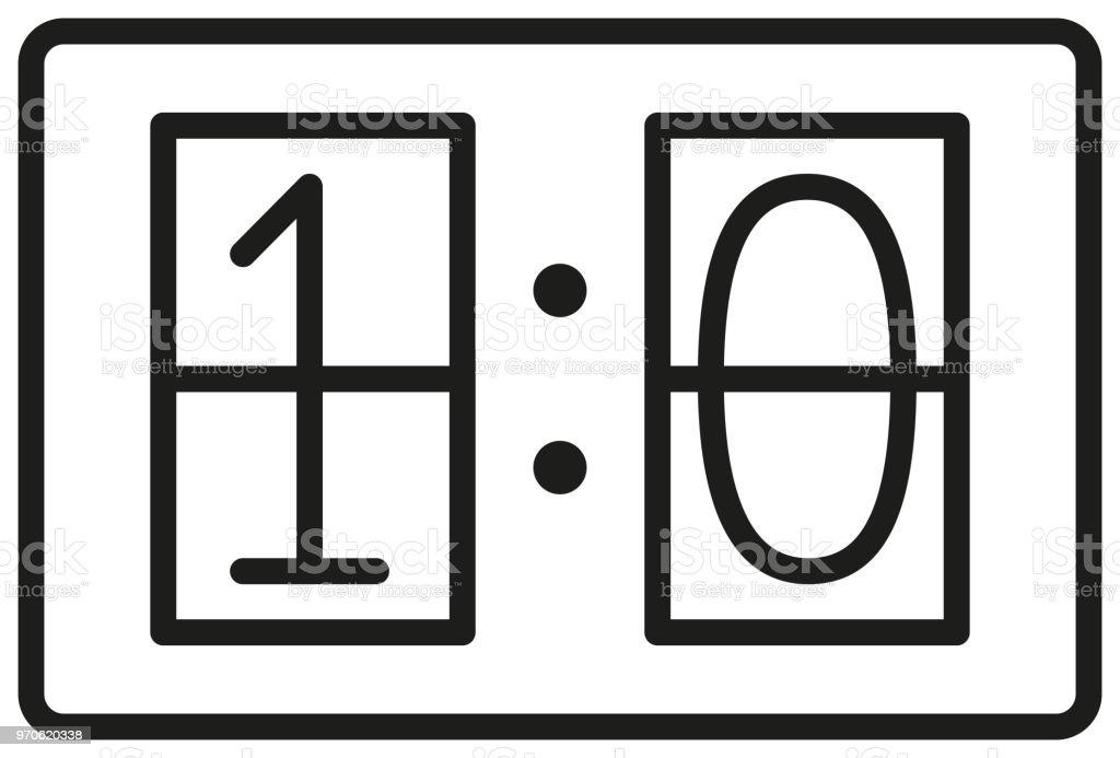 Icon for game score on white