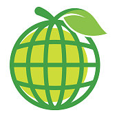 icon for the media management of fruit / organic products globally