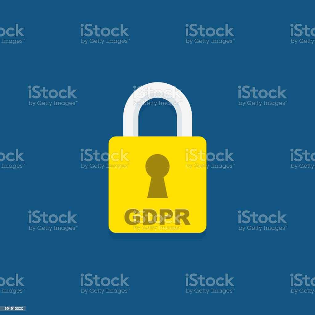 GDPR icon. General Data Protection Regulation padlock. royalty-free gdpr icon general data protection regulation padlock stock vector art & more images of business