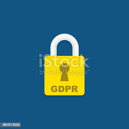 Gdpr Icon General Data Protection Regulation Padlock Stock Vector Art & More Images of Business 964913000
