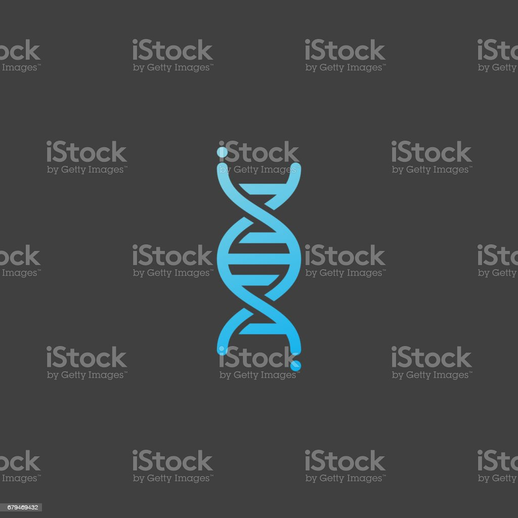Ícone de DNA, genética sinal - ilustração de arte em vetor