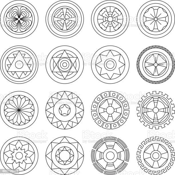 Icon Geometric Mandalas Coloring Pages Ideal For Visual Communication Information And Institutional Material Stock Illustration Download Image Now Istock