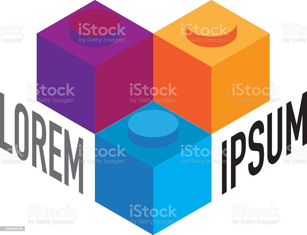 Icon geometric symbol union representing society. Ideal for visual...