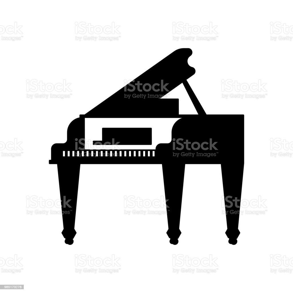 Ilustración de Gran Plantilla Negro Piano De Icono Instrumento ...