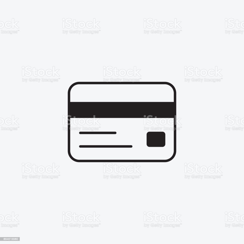 icon graphic credit card money bank black and white pictogram for web design vector flat