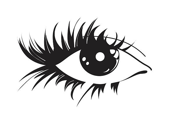 icon graphic eye on a light background vector art illustration