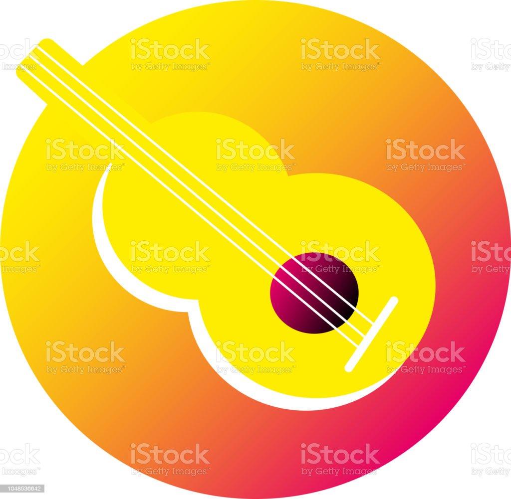 simge gitar. vektör sanat illüstrasyonu