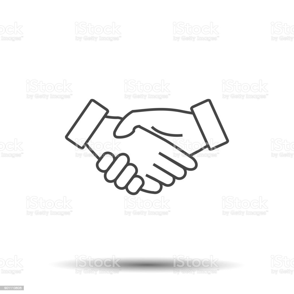 Icon Handshake Business Finance Agreement Handshake Stock Vector Art