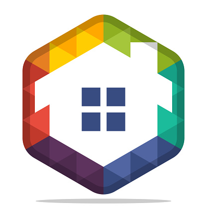 icon hexagon shape for the housing business