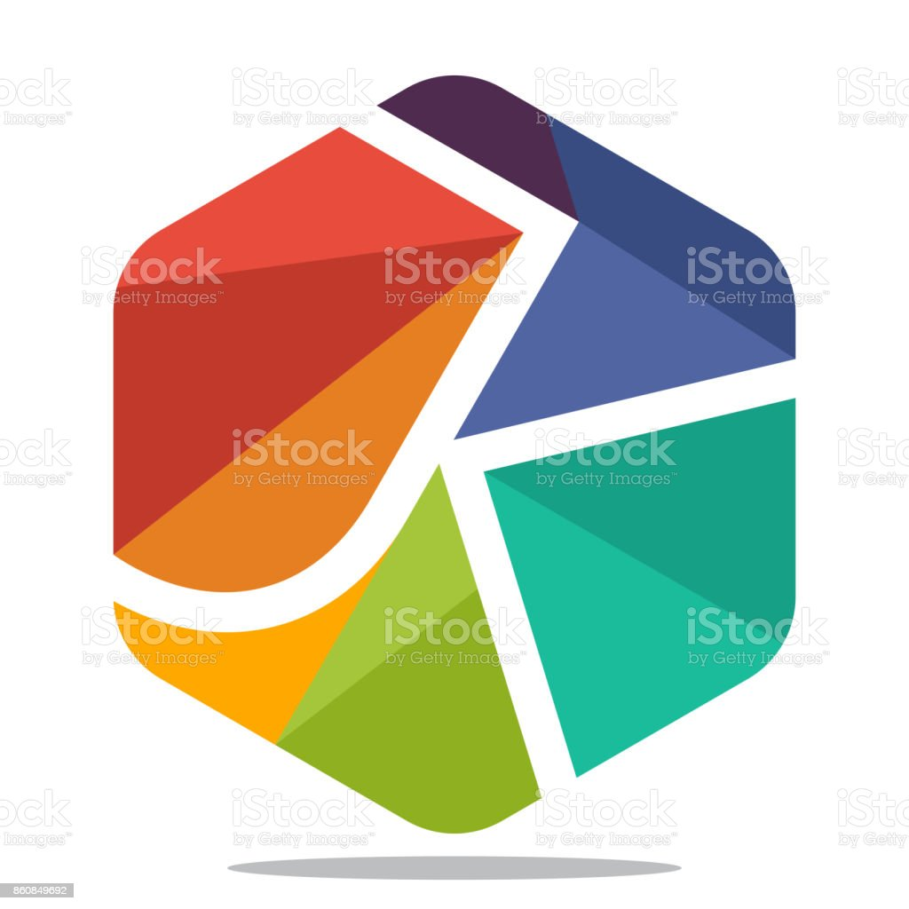 Symbol Sechseck Form Mit Mosaik Stil, Mit Kombination Der Initialen  Buchstaben J