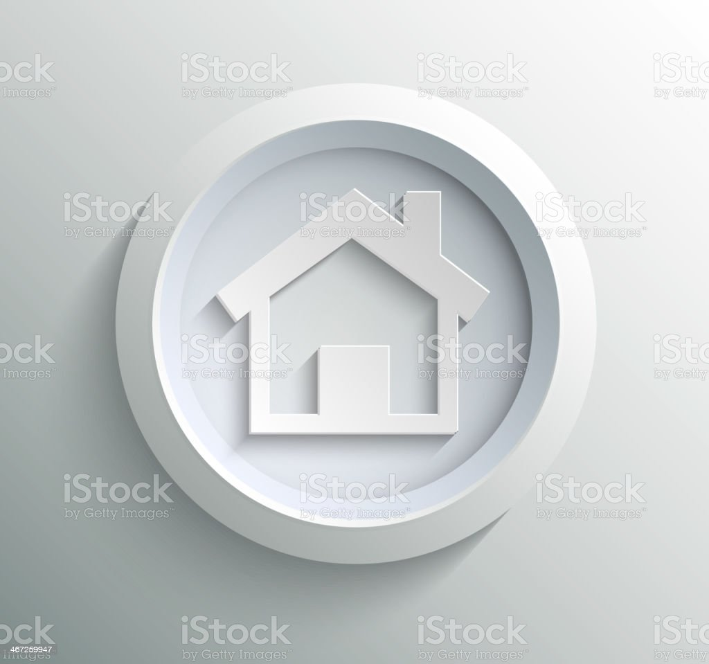 Icon home vector art illustration