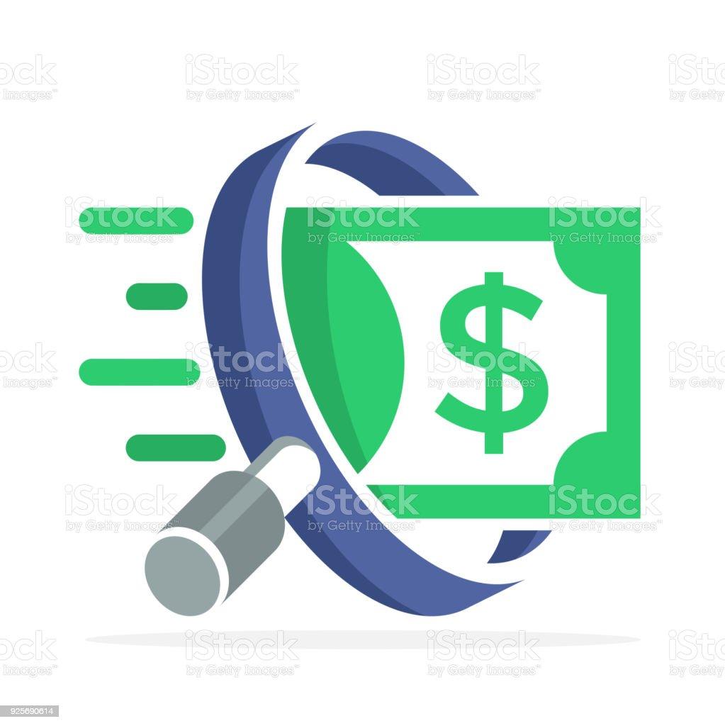 icono icono de Finanzas empresariales, servicios de auditoría - ilustración de arte vectorial