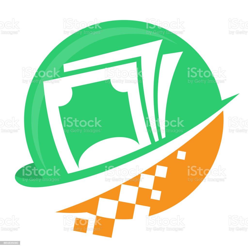 Icono icono de negocios digitales, para proveedores de servicios financieros - ilustración de arte vectorial
