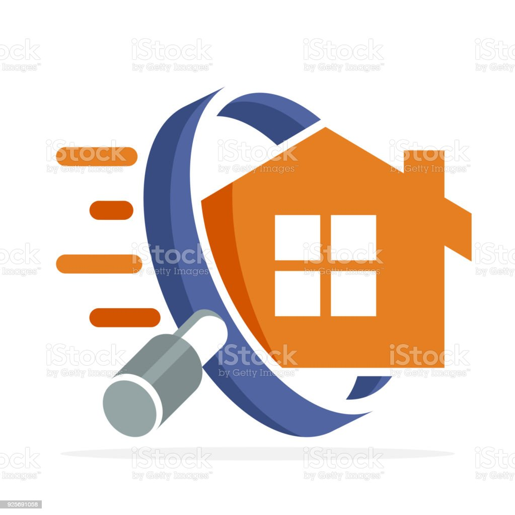 icon icon with home search concept vector art illustration