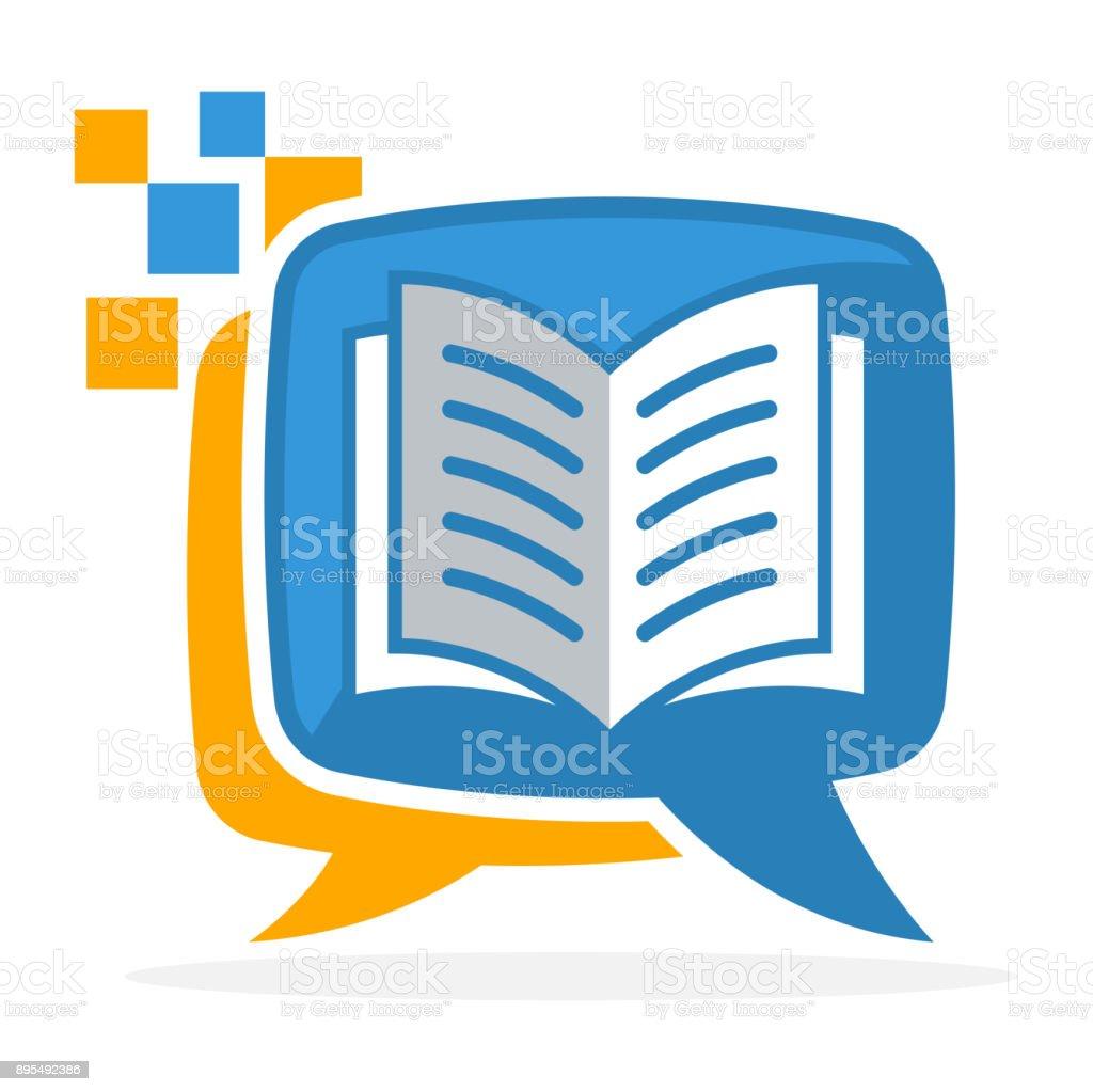 icono icono con el concepto de medios de comunicación, aprendizaje de la lectura - ilustración de arte vectorial