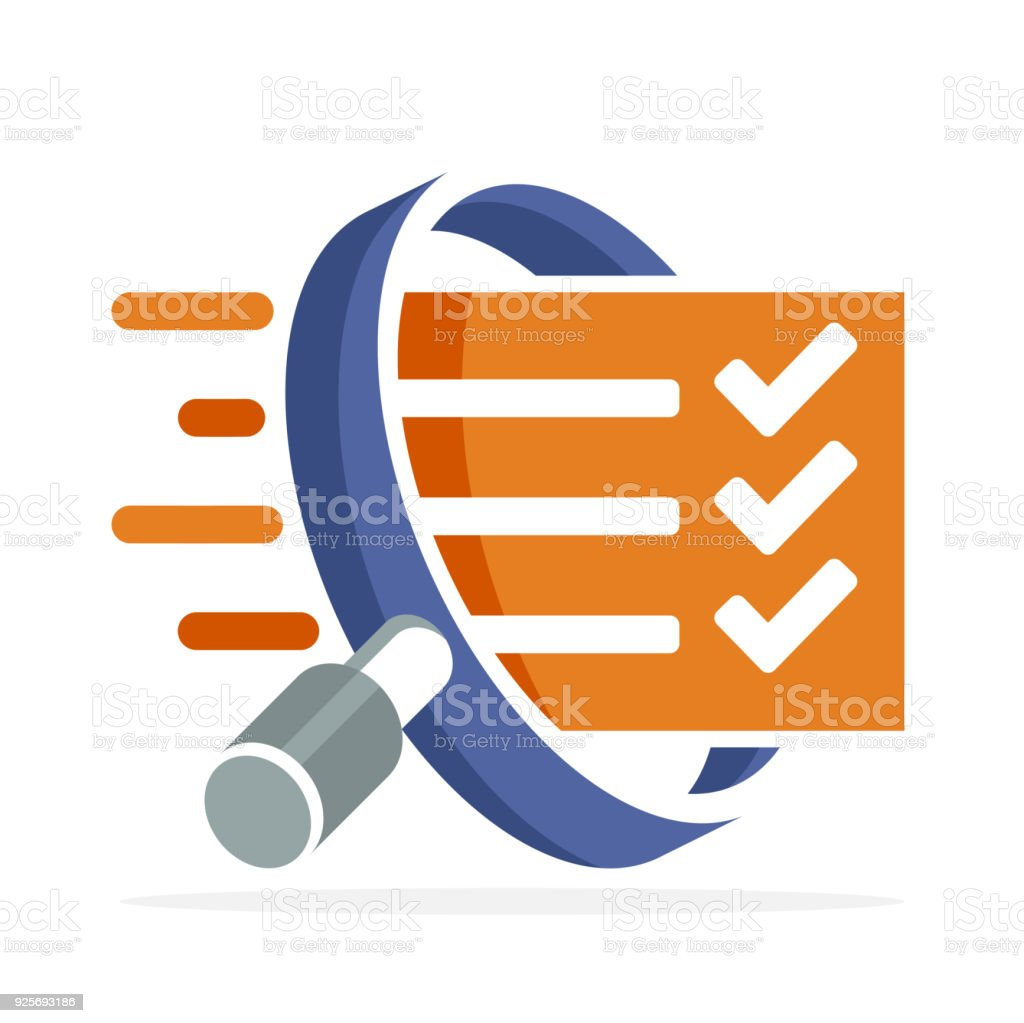 icon icons with the concept of correcting, evaluating, surveying vector art illustration