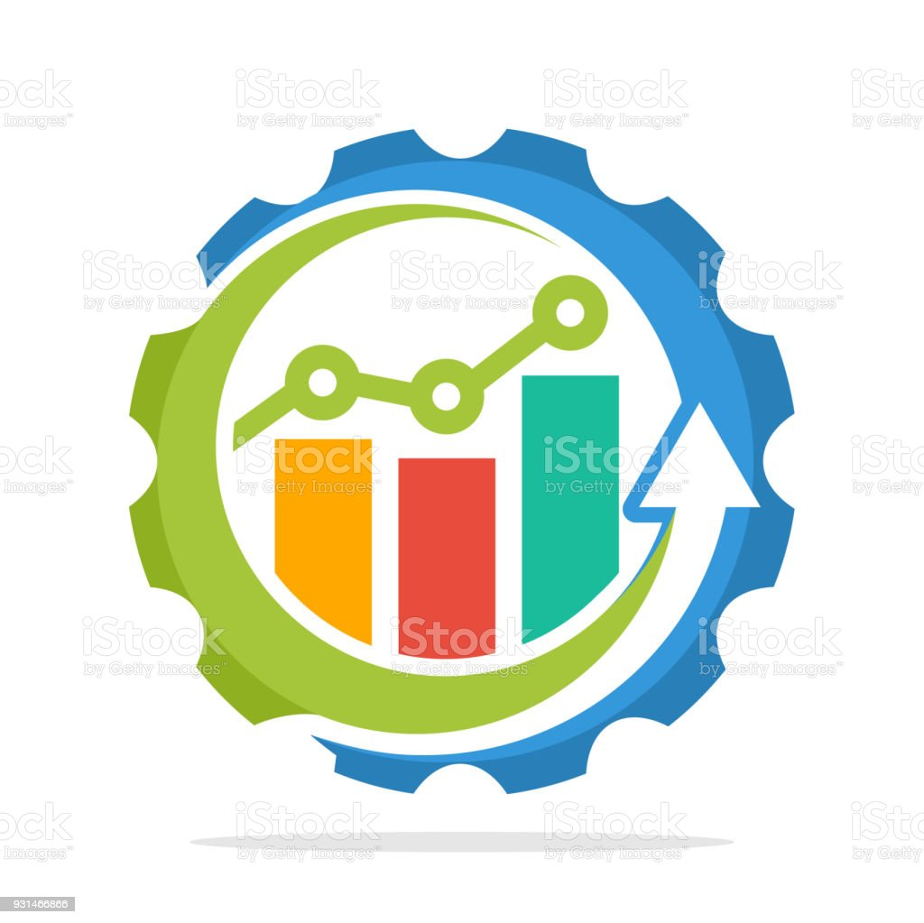 icon icons with the concept of the process of increasing sales, the process of economic growth, the process of investment growth vector art illustration