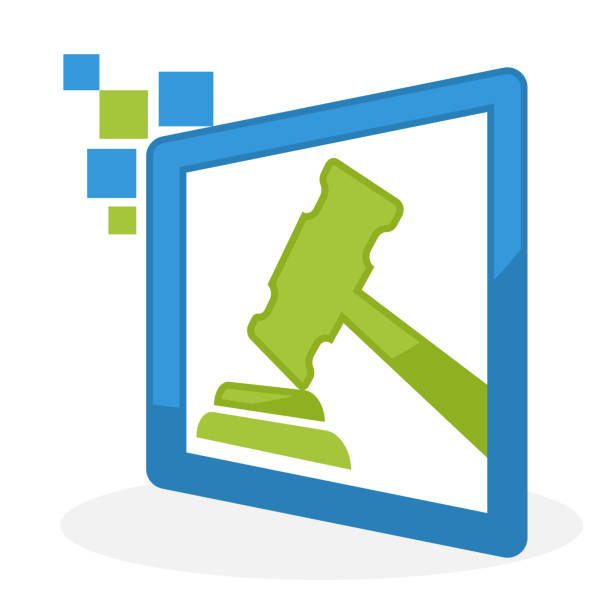 icon  illustration for auction / bid management business vector art illustration