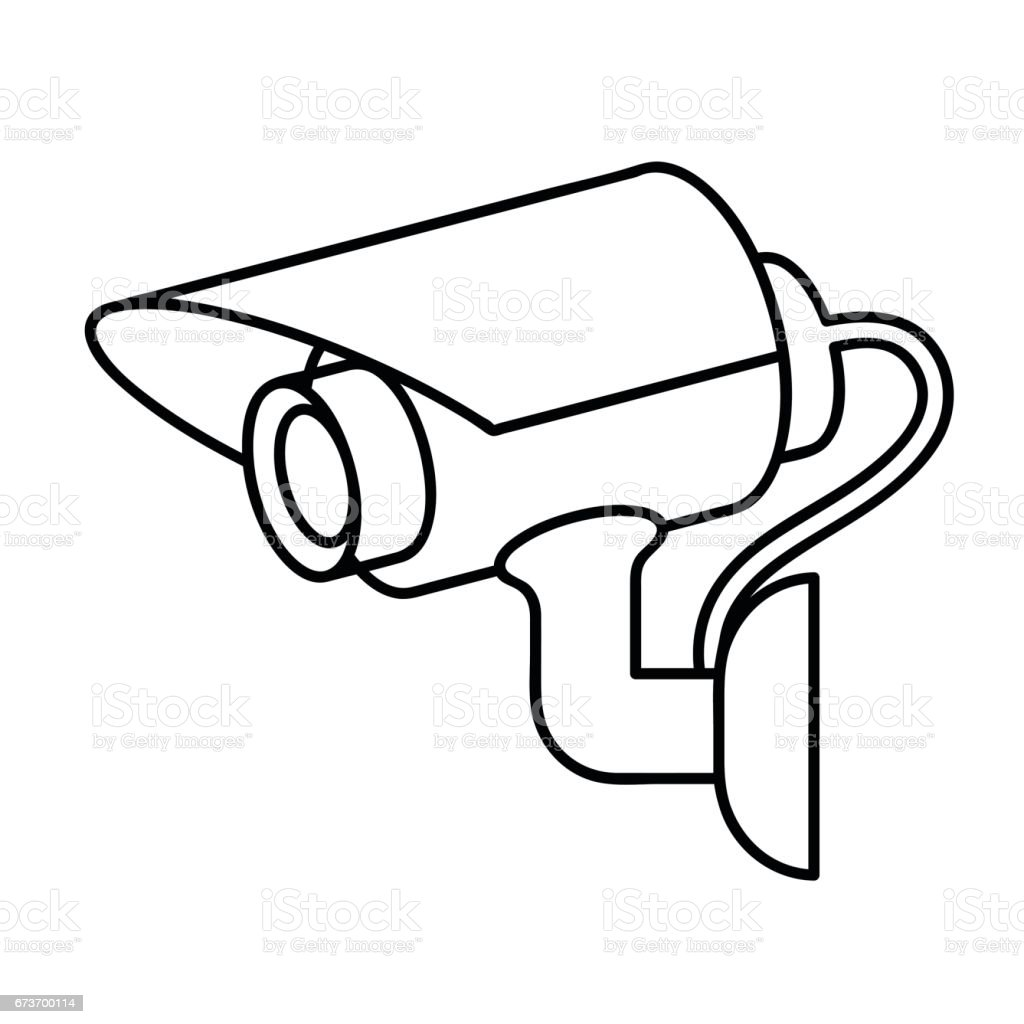 royalty free security camera view clip art vector images rh istockphoto com security camera clipart security video camera clipart