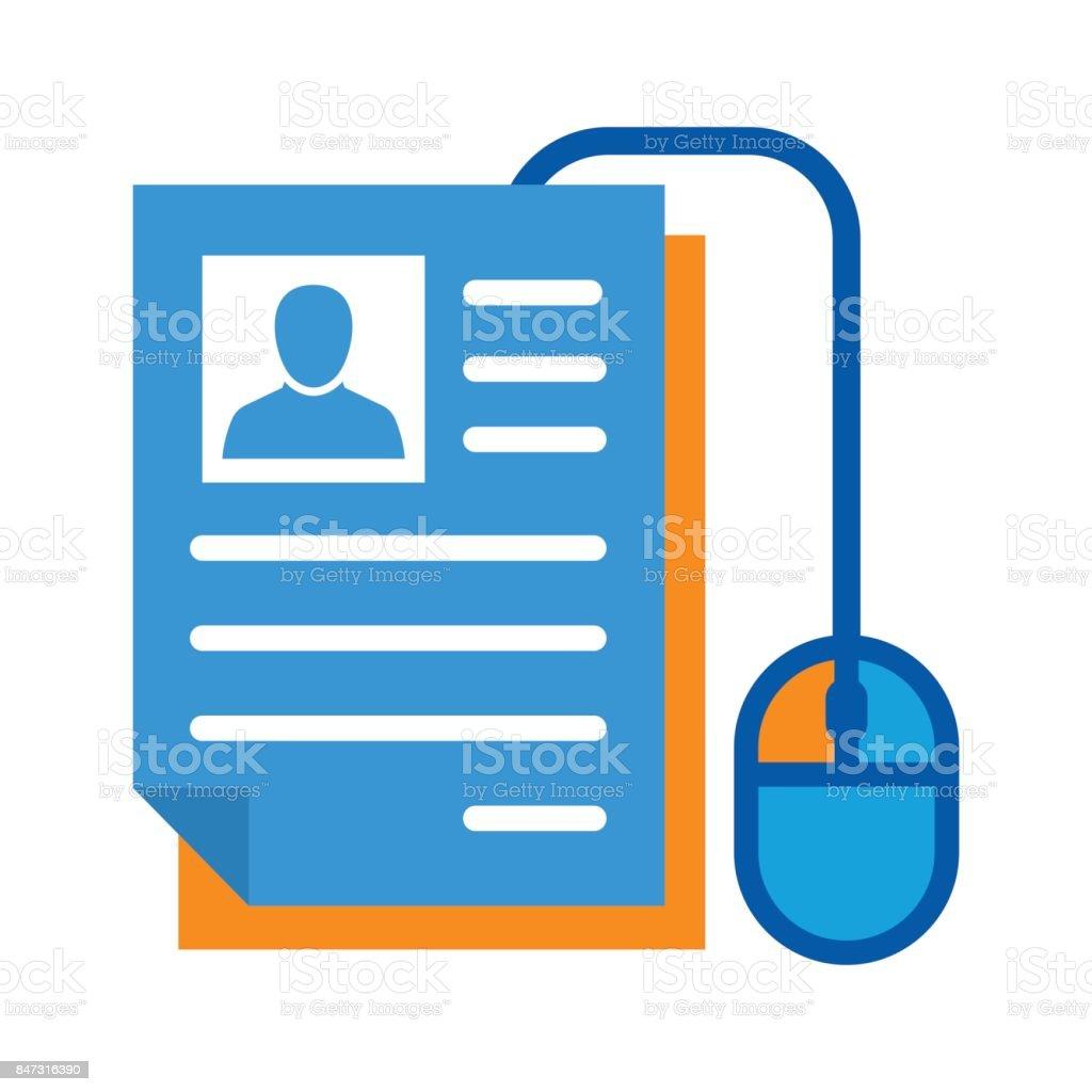 Icon illustration for on-line registration vector art illustration