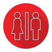 Icon illustration for toilet