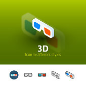 3D color icon, vector symbol in flat, outline and isometric style isolated on blur background