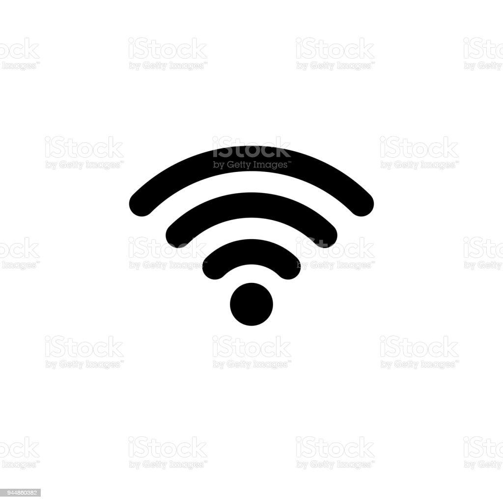 WIFI Icon in flat style. Wireless symbol vector art illustration