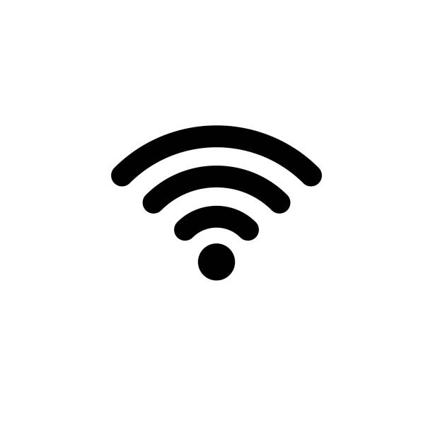 wifi icon in flat style. wireless symbol - wireless technology stock illustrations, clip art, cartoons, & icons
