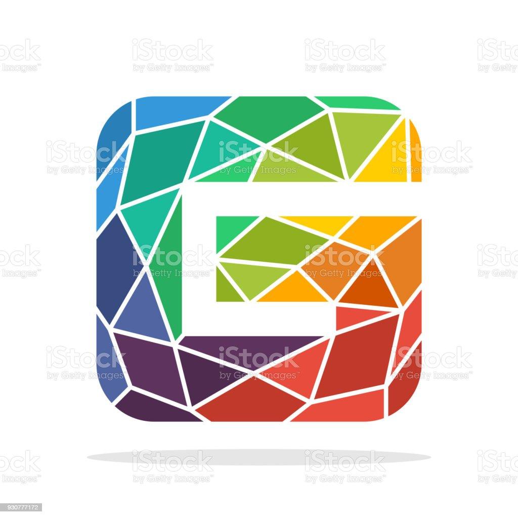 Uberlegen Symbol Anfangsbuchstaben G Mit Dem Konzept Der Bunten Mosaik Stil  Lizenzfreies Symbolanfangsbuchstaben G Mit