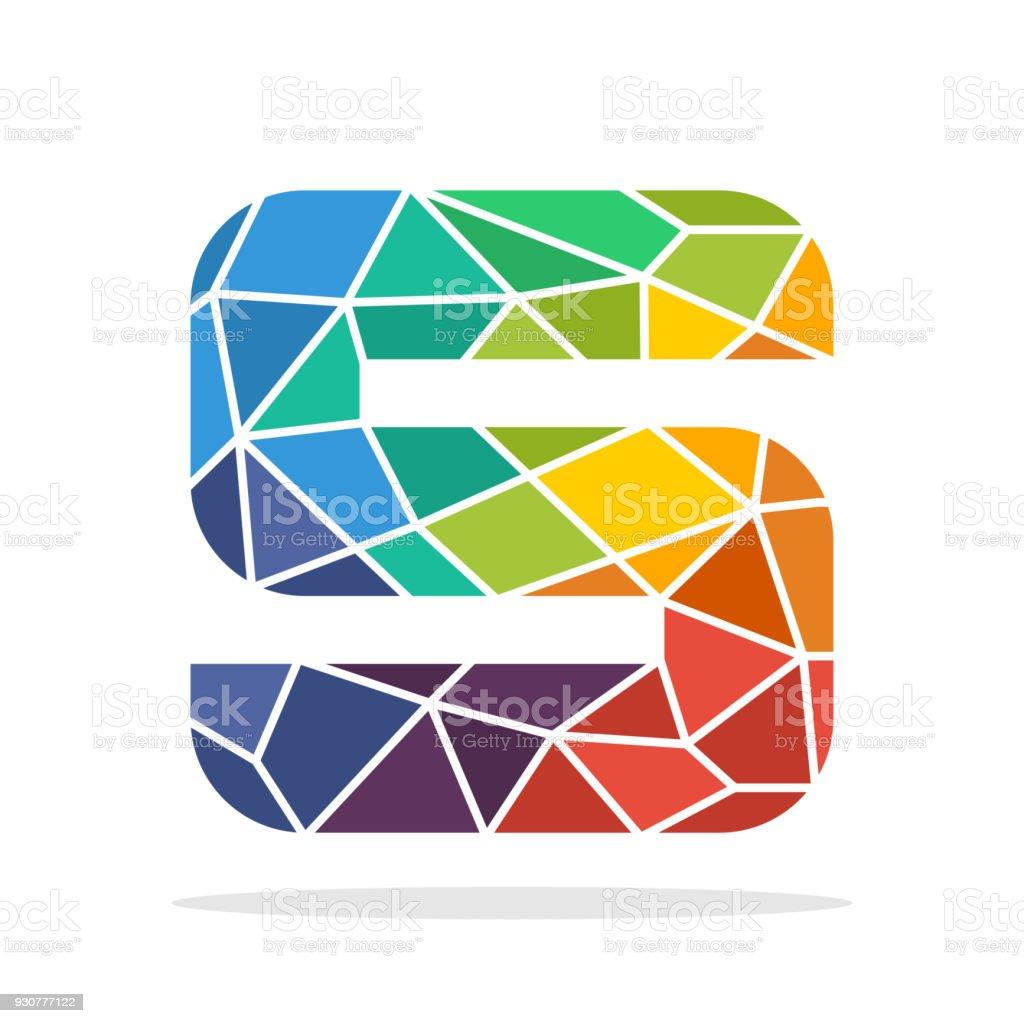 Hochwertig Symbol Anfangsbuchstaben S Mit Dem Konzept Der Bunten Mosaik Stil  Lizenzfreies Symbolanfangsbuchstaben S Mit