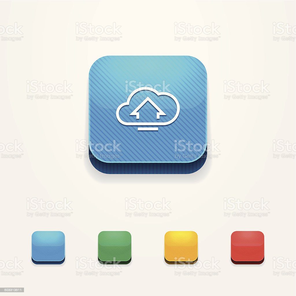 Icon IOS 3d. Vector set of badges app. vector art illustration
