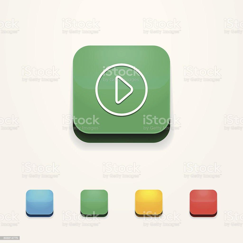 Icon IOS 3d. Vector set of badges app.